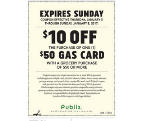 Gas Card Deal at Publix